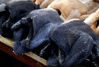 Kasvatatavad tõud, Ayam Cemani liha, foto ShinyNickel/Imgur