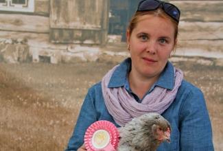 Luige Maaelu Näituslaat, näituse kõige ilusam kana koos perenaisega